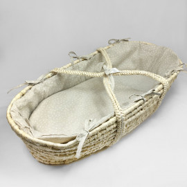 WHITE MINISTAR MOSES BASKET