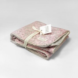 LIBERTY PINK FLEECE BLANKET
