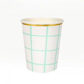 VASOS DE PAPEL MINT GRID