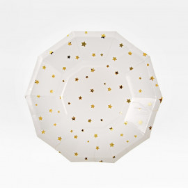 MINI-PLATOS PAPEL GOLD STAR