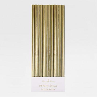 PAPER STRAWS GOLDEN STARS