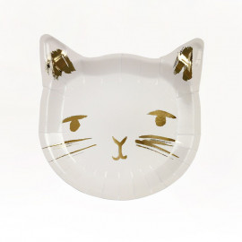 GOLDEN CAT PAPER PLATES