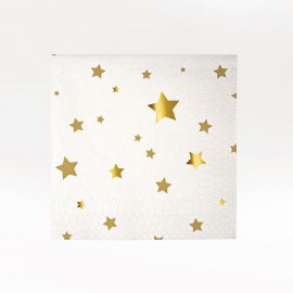 MINI-SERVILLETAS PAPEL GOLS STARS