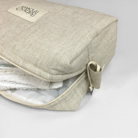 BIEGE LINEN CAMILA TOILETRIES CASE