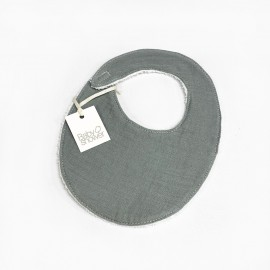 GREY POWDER BIB
