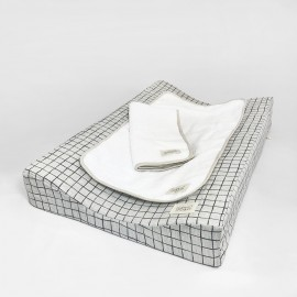 GREY GRID CHANGING MAT SET