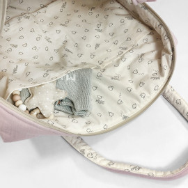 GREY POWDER CAMILA MATERNITY BAG
