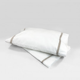 LINEN CRIB SHEET & PILLOW SET