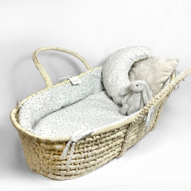 GREY ON GREY MOSES BASKET