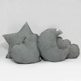GREY POWDER CUSHION PILLOWS