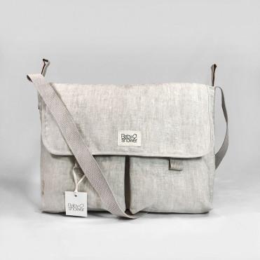 SAND COTTON STROLLER BAG