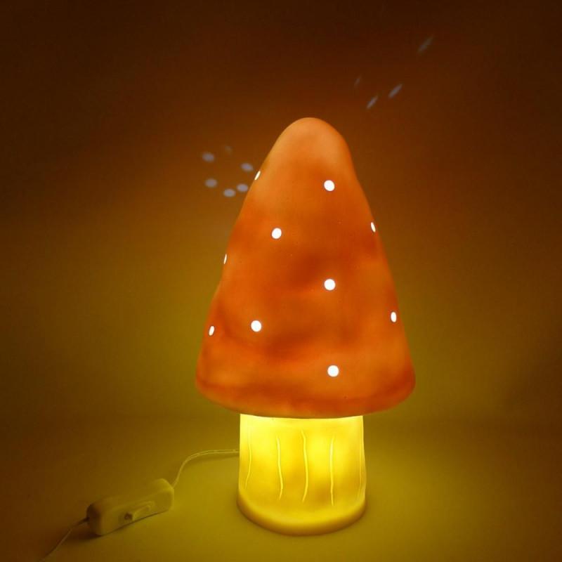 PEACH MUSHROOM NIGHT LAMP