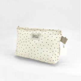 POLKA DOT NAPPIES POCHETTE