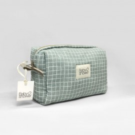 MINT GRID TOILETRIES CASE