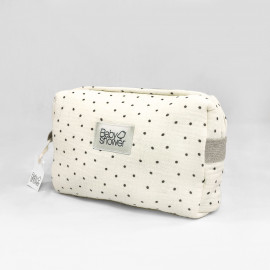 POLKA DOT TOILETRIES CASE