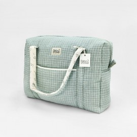 MINT GRID CAMILA MATERNITY BAG
