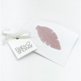 CLIP PLUMA ROSE POWDER