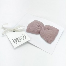 CLIP LADY BOW ROSE POWDER