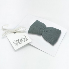 CLIP LADY BOW GREY POWDER