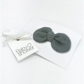 CLIP FRENCH BOW GREY POWDER