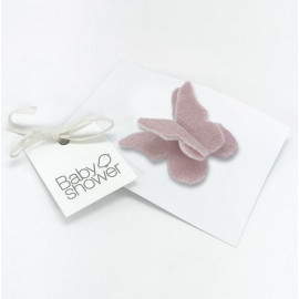 CLIP MARIPOSA ROSE POWDER