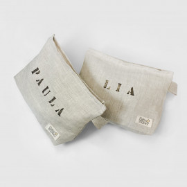 PERSONALIZED LINEN NAPPIES POUCH