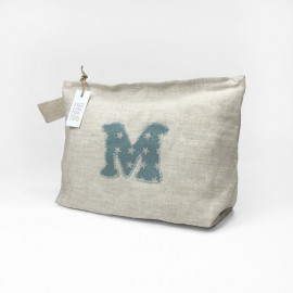 LINEN NAPPIES POUCH WITH INITIAL