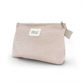 POCHETTE COUCHES WAFFLE ROSE