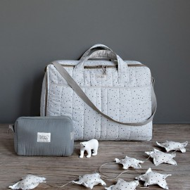 GREY ON GREY TRAVEL SUITCASE