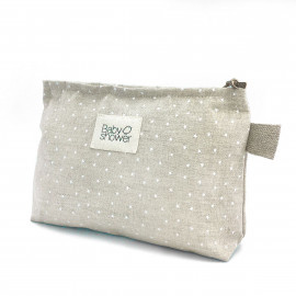 WHITE MINISTAR NAPPIES POUCH