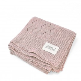 ROSE TRICOT KNIT BLANKET