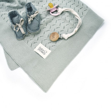 COUVERTURE TRICOT GREY