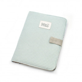 WAFFLE AQUA DOCUMENT FOLDER
