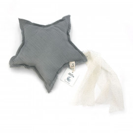 GREY POWDER SHOOTING STAR CUSHION