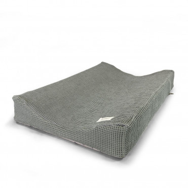 WAFFLE GREY CHANGING MAT COVER