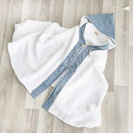 BLUE STAR BATH PONCHO