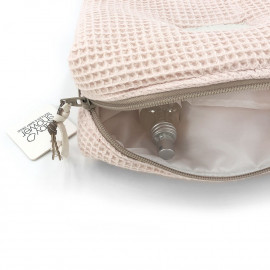 WAFFLE BLUSH CAMILA TOILETRIES CASE