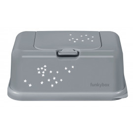 FUNKY BOX WHITE - TINY SILVER STARS