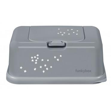 FUNKY BOX WHITE - TINY SILVER STARS