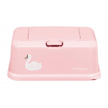 FUNKY BOX ROSE-CIGNE BLANC
