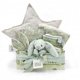 WHITE STAR BOX BASKET GIFT