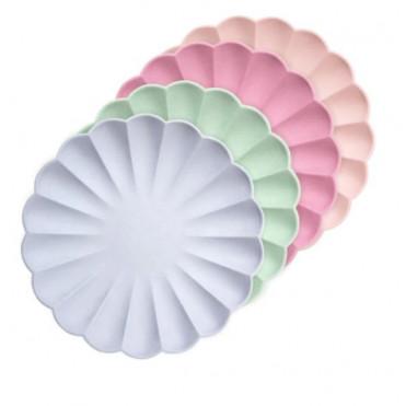ECO PASTEL PINK PAPER MINI-PLATES