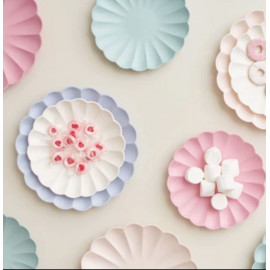 MINI-PLATOS PAPEL ECO PASTEL PINK