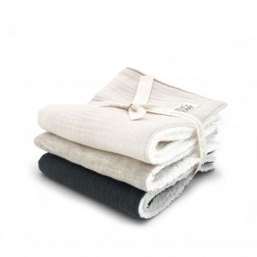 SQUARE PRINT SET OF 3 MINI-TOWELS