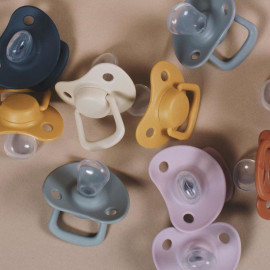 CLOUD/VANILLA x2 BIBS PACIFIER SET