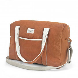 CARAMEL POWDER CAMILA MATERNITY BAG