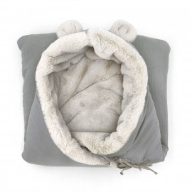 GREY POWDER TEDDY ANGEL NEST
