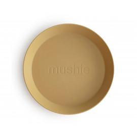 Dos Platos Mushie Round Vanilla