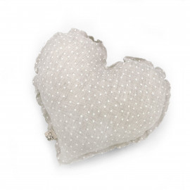 WHITE MINISTARS HEART CUSHION
