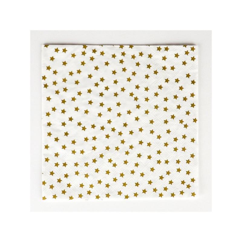 SERVILLETAS PAPEL GOLD STAR